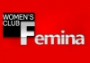 Femina women club logo, icon