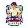"COMFORT SERVICE"" TRUCKING COMPANY logo, icon"