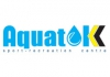 Aquatek sport-recreation center logo, icon