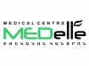MED ELLE medical center logo, icon