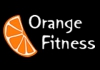 Orange fitness club chain logo, icon