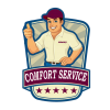 """COMFORT SERVICE"" TRUCKING COMPANY logo, icon"